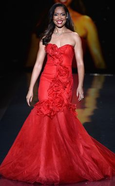 Gina Torres from Celebs Walk the Heart Truth Red Dress Show | E! Online