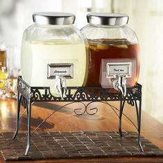 Find it at the Foundary - Style Setter Williamsburg 1 gal. Glass Dispenser Set with Rack