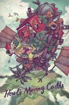 Howl's Moving Castle - Studio Ghibli, the best of Japanese anime movies Hayao Miyazaki, Howl's Moving Castle, Film Animation Japonais, Animation Film, Studio Ghibli Art, Studio Ghibli Movies, M Anime, Anime Art, Anime Girls