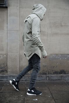 "admirableco: "" Gray jeans and olive hoodie by Admirable.co www.admirable.co """