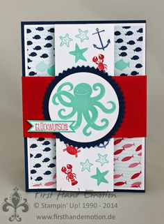 Stampin' Up! by First Hand Emotion: Sea Street Faltkarte mit Anleitung
