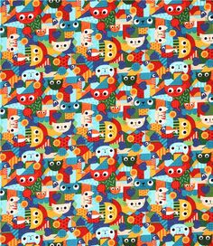 turquoise blue 'Pawsome Cats' cat patches fabric Blank Quilting from the USA 3