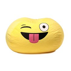 Ace Casual Furniture™ Emoji Bean Bag Chair  $36.99  Ergonomic seating position Color: Yellow Material: Polyester
