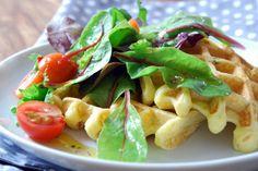 Paleolit gofri salátával Fruit Salad, Pasta Salad, Potato Salad, A Food, Waffles, Tacos, Healthy Recipes, Healthy Food, Paleo
