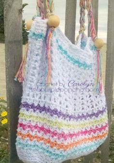 Beach Day Tote Bag – Free Crochet Pattern – The Purple Poncho