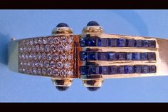 For Sale on - Pair of Diamond and Sapphire clip Earrings together with matching Bangle bracelet. The earrings solid polished yellow gold. Sapphire Diamond, Blue Sapphire, Gold Bangles, Bangle Bracelets, Clip On Earrings, Earring Set, Jewelry Watches, Pairs, Mid Century