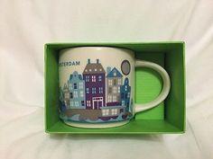 Starbucks-Amsterdam-YAH-Mug-Houses-Canal-Netherlands-Dutch-Cup-You-Are-Here-NIB