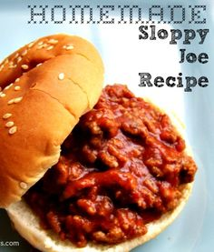 Homemade Sloppy Joe Recipe is a favorite in my house during baseball season. This meal is quick and can be prepared in 30 minutes for a weeknight family dinner. Homemade Sloppy Joe Recipe, Homemade Sloppy Joes, Sloppy Joes Recipe, Homemade Ketchup, Beef Dishes, Food Dishes, Main Dishes, Good Food, Yummy Food