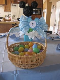 Every guest gets to choose an egg once they walk in the door & after every guest arrives whom ever has the baby with a blue diaper wins. #babyshowergames