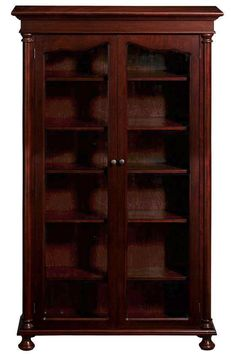 Bookcases with glass doors. <3