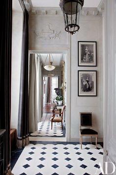 Curtained in a Romo velvet, a light-filled entrance hall greets visitors at a Paris apartment renovated and decorated by Jean-Louis Deniot. For details see Sources.(via An American Couple's Paris Home Celebrates French Style : Architectural Digest) Classic Interior, Best Interior, French Interior Design, Antique Interior, Modern Interior, Modern French Interiors, Neoclassical Interior, Interior Sketch, Architectural Digest