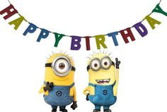 Minions Happy Birthday Gif and images for loved ones. Funny Birthday Quotes and Wishes for Minions Cartoon Fans. Happy Birthday Minions Gif, Happy Birthday Clip Art, Funny Happy Birthday Images, Book Birthday Parties, Happy Birthday Video, Singing Happy Birthday, Birthday Funnies, Birthday Clipart, Birthday Book