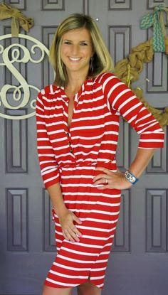 LA MADE Ida Striped Shirt Dress @stitchfix #stitchfix