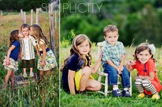 family photography by Simplicity Photography. This is how my family is set up. 2 girls 1 boy. Great ideas for the 3 of them. LOVE the little girls kissing their brother.