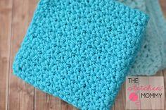 Easy Textured Grit Stitch Wash Cloth