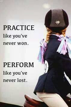 Perfect motto for the show season coming up! Like if u agree
