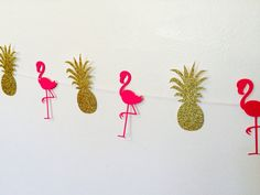 Pineapple and Flamingo Garland Luau Party by Nostresspartyforless