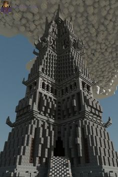 The Dark Tower Minecraft Map Minecraft Epic Builds, Minecraft Bridges, Minecraft Structures, Minecraft Survival, Minecraft Blueprints, Minecraft Buildings, Minecraft Palace, Minecraft City, Minecraft Construction