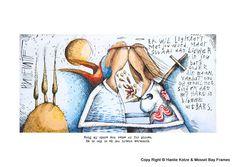 Hanlie Kotze Prints - Available : HK13012 LEGKAART South African Artists, Sadness, Tatting, Van, Pottery, Canvas, Prints, Pictures, Ceramica