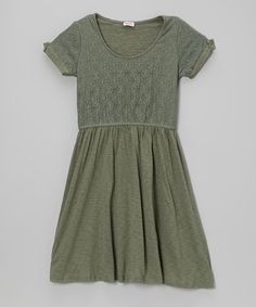 Another great find on #zulily! Camo Green Lace Dress - Girls by Splendid #zulilyfinds
