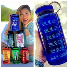 Water jug http://www.ogorgeous.com/product/choose-to-be-happy-jewel-timer-bottle-in-sapphire-blue