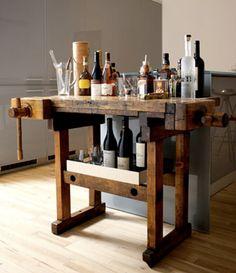 Wine/liquor Bar. #rustic