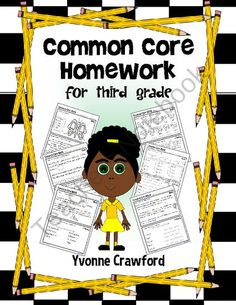 Common Core Homework for Third Grade includes 120 worksheets that you can use throughout the school year to practice their skills according to the Common Core State Standards for the third grade. $