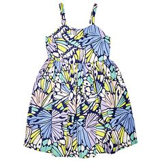Buy Margherita Kids Girls' Butterfly Wings Dress, Blue/Multi Online at johnlewis.com #margheritakids
