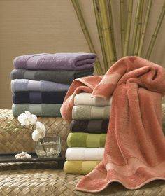 This luxurious bamboo and cotton towel set combines the solidity of Egyptian cotton with the softness of bamboo rayon for extra comfort. It comes in a range of colors to suit any bathroom, and it has two bath towels, hand towels, and washcloths. Egyptian Cotton Towels, Turkish Towels, Soft Towels, Hand Towels, Home Modern, Bamboo Rayon, Bath Towel Sets, Thats The Way, Soft Surroundings