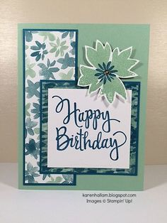 Stampin' Up Blooms and Bliss, Blooms and Wishes, Stylized Birthday. See it on…