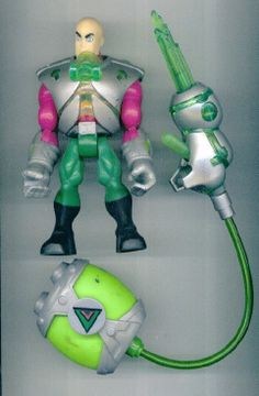 ToyBiz D.C. GIANT-SIZE SUPER-HEROES LEX LUTHOR & Kryptonite Sabre Rifle Pack