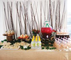 woodsy-forest-themed-drink-station