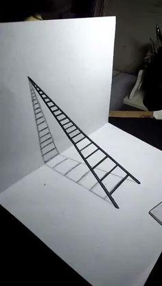 3d Art Drawing, Cool Art Drawings, Teacher Cartoon, 3d Painting, Origami Art, Carolina Herrera, Geometric Art, Diy Art, Art Lessons