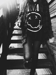 Image via We Heart It https://weheartit.com/entry/156702101 #blackandwhite #blouse #nirvana #pants #perfect