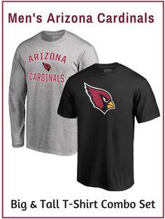 3819154a844f Men s Arizona Cardinals NFL Pro Line by Fanatics Branded Black Heathered  Gray Big   Tall T-Shirt Combo Set - NNT  affiliate  arizonacardinals  tee   teeshirt ...