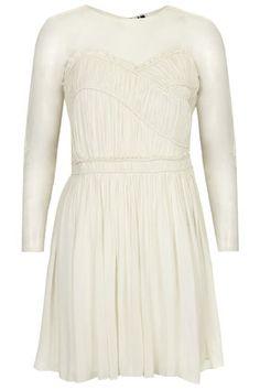 Long Sleeve Ruffle Skater Dress--for Marie
