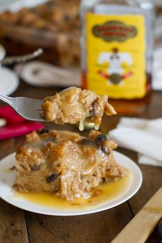 This bread pudding with hot butter rum sauce is the best bread pudding I've ever had! The sauce alone will change your life.