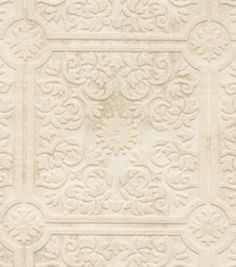 Off White Tin Ceiling Wallcovering, , hi-res