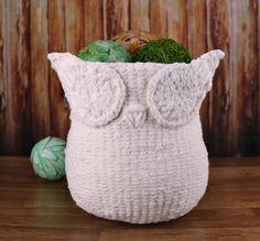 Knitting Pattern  Knit Owl Basket  Knitting by CrochetEverAfter
