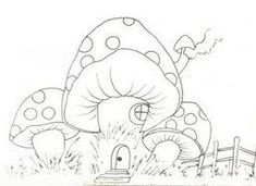 casinha de cogumelo
