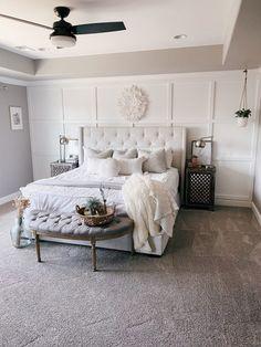 Master Room, Master Bedroom Makeover, Master Bedroom Design, Bedroom Wall Designs, Feature Wall Bedroom, Accent Wall Bedroom, Bedrooms With Accent Walls, Bedroom Accent Walls, Room Ideas Bedroom