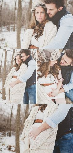 maternity session in the snow Maternity Photographer, Maternity Session, Maternity Pictures, Pregnancy Photos, Winter Maternity Outfits, Winter Outfits, Sibling Poses, Crochet For Boys, Prom Pictures