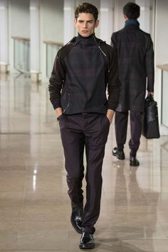 <3 Hermès - Fall 2015 Menswear - Look 30 of 44. Arthur Gosse is rocking it.
