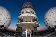 Teufelsberg towers, abandoned NSA spy station in Berlin,  few more abandoned Canadian Arctic Junk yards