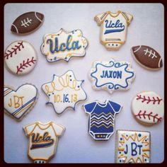 Ucla Graduation Iced Sugar Cookies Sugaredandiced Com