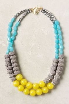 Color inspiration for a diy necklace