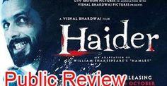 #Haider Public #Review | Hindi Movie | #ShahidKapoor, #ShraddhaKapoor, Irrfan Khan, Tabu http://bollywood.chdcaprofessionals.com/2014/10/haider-public-review-hindi-movie-shahid.html