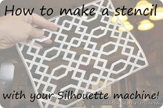 How to make a stencil tutorial:: All Things Thrifty #silhouette #cameo