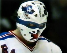 John Davidson - New York Rangers Rangers Hockey, Ice Hockey Teams, Hockey Goalie, Hockey Stuff, Nfl Highlights, John Davidson, Goalie Mask, The Lone Ranger, Masked Man