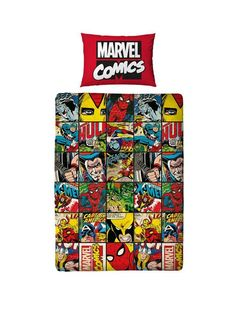 Marvel Comic Defenders Single Duvet Cover Set | very.co.uk